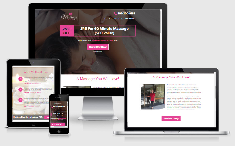 Massage Therapist Web Design