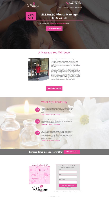 Massage Landing Page